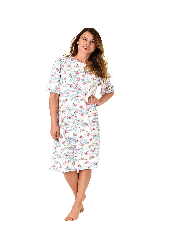 660749b778f263 Normann Damen Nachthemd kurzarm klassisches Blumenmuster 181 211 90 302  70%OFF