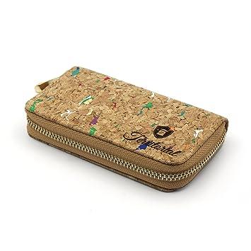 Cartera de corcho Basic Territorial. Modelo para mujer. Diseño de billetera con monedero clásico: Amazon.es: Equipaje