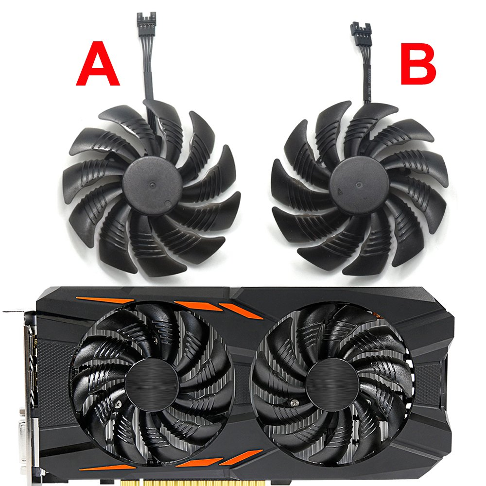 Inrobert 88mm T129215su Graphics Card Cooling Fan For Gigabyte Geforce Gtx 1060 G1 Gaming 1050 Ti Rx 480 470 570 580 Cooler B