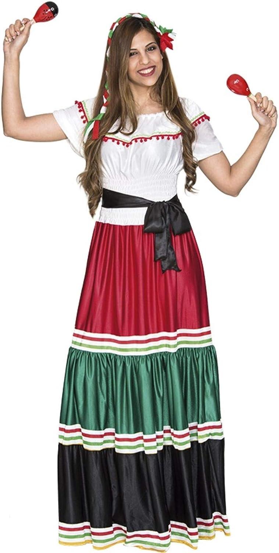 Fyasa 706477-t04 mexicano Mujer Disfraz, Tamaño grande: Amazon.es ...