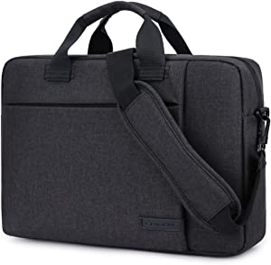 Laptop Bag 13.3 Inch,BRINCH Stylish Fabric Laptop Messenger Shoulder Bag Case Briefcase for 13-13.3 Inch Laptop/Notebook/MacBook/Ultrabook/Chromebook Computers (Black)