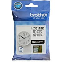 Brother LC3511BK Original Ink Cartridge Compatible with DCP/MFC Series, 200 Pages, Black