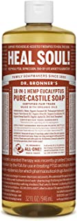 product image for Dr. Bronner's - Pure-Castile Liquid Soap (Eucalyptus, 32 Ounce) - Made with Organic Oils, 18-in-1 Uses: Face, Body, Hair, Laundry, Pets and Dishes, Concentrated, Vegan, Non-GMO