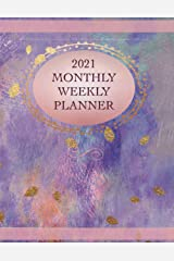 2021 Monthly Weekly Planner - Blush Pink Watercolor: 8.5 x 11 Inch - 52 Week Planner with Bonus Pages Paperback