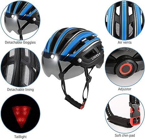 Amazon.com: Lixada - Casco de bicicleta para hombre y mujer ...