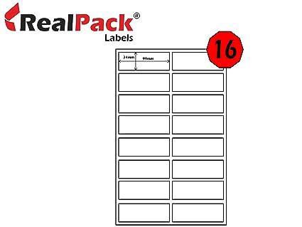 realpack® 100 X A4 hojas de etiquetas de dirección de correo ...
