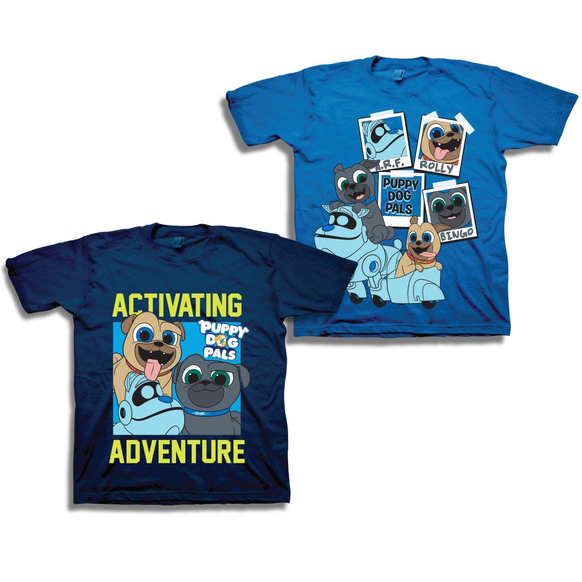 Navy Royal 3T Navy Royal 3T Disney Puppy Dog Pals Shirt 2 Pack of Puppy Dog Pals Tees Featuring Bingo, Rolly, Bob, Hissy and A.R.F