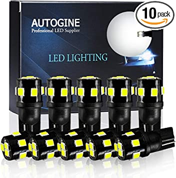 2 Pcs 4WDKING T10 LED Bulbs for Car Interior Dome Map Door Courtesy License Plate Lights
