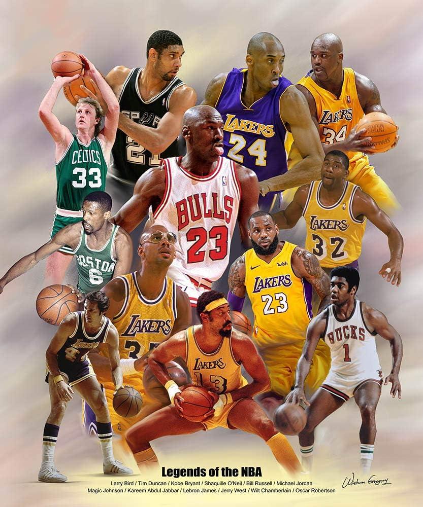 Toronto Raptors Legends Poster