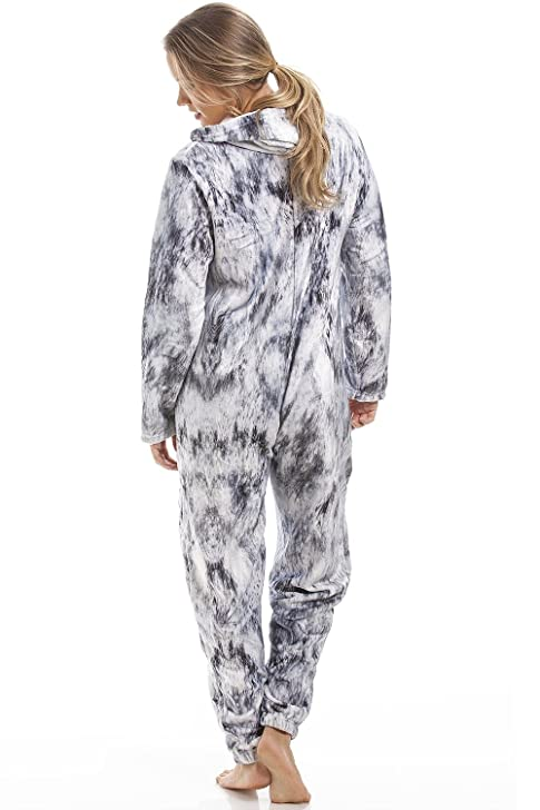 Amazon.com: Camille Womens & Childrens Light Grey Stunning Cat Print Onesie: Clothing