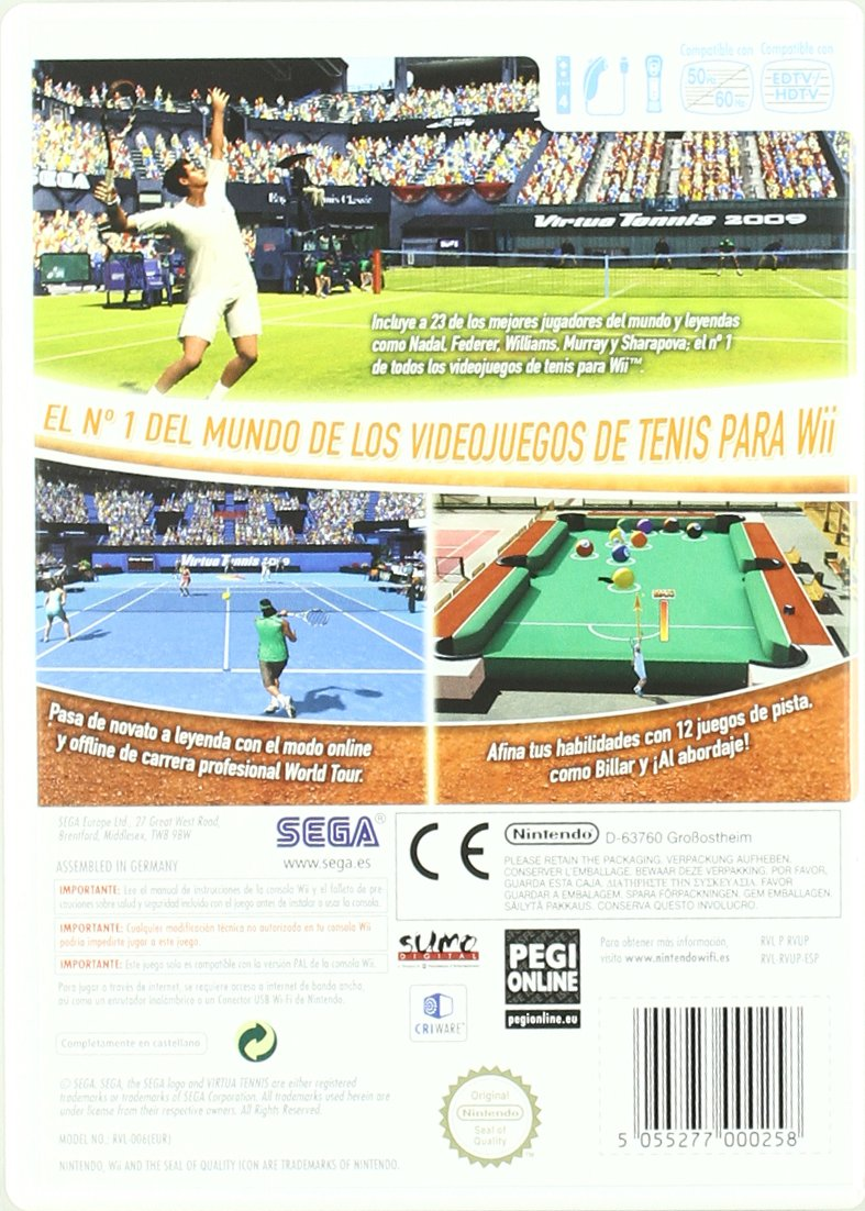 Virtua Tennis 2009: Amazon.es: Videojuegos