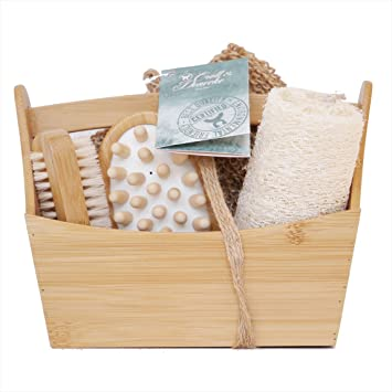 bamboo bathroom box set