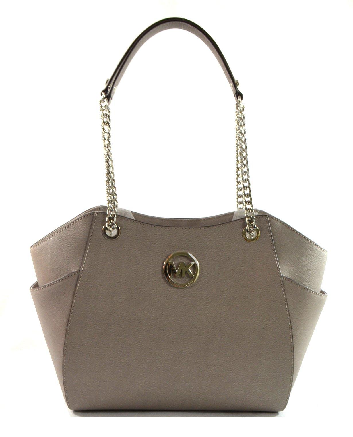 a54b08c4c79ee Galleon - Michael Kors Jet Set Travel Large Chain Shoulder Tote Handbag Pearl  Grey