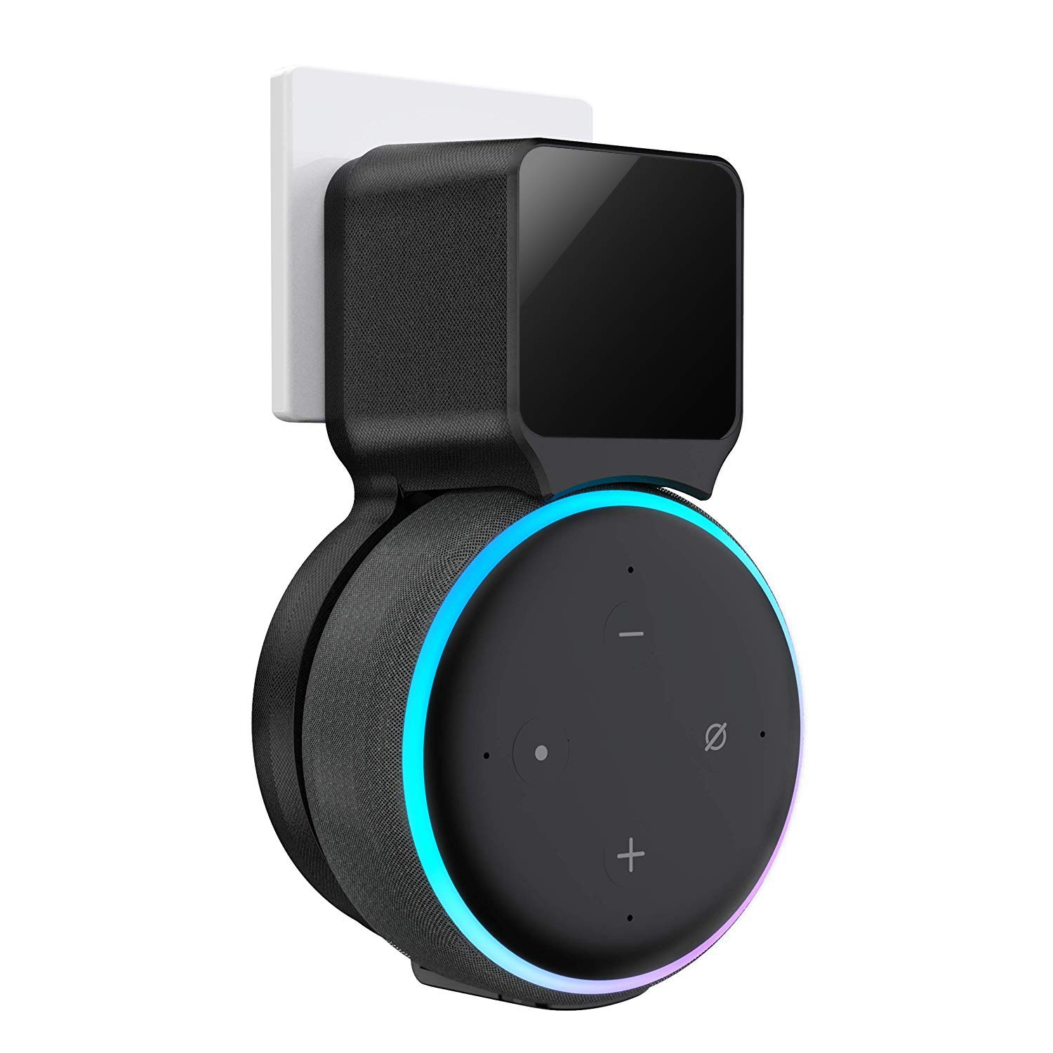 Echo Dot Wall Mount Holder, Belkertech Echo Dot Mount 3rd Generation Space-Saving Accessories for Dot Smart Speakers, Clever Echo Dot Accessories with Built-in Cable Management Hide Messy Wires by Belkertech