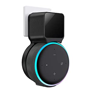 Echo Dot Wall Mount Holder, Belkertech Echo Dot Mount 3rd Generation Space-Saving Accessories for Dot Smart Speakers, Clever Echo Dot Accessories with Built-in Cable Management Hide Messy Wires