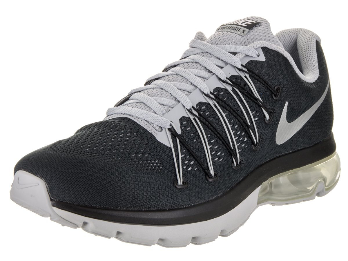 NIKE Men's Air Max Excellerate 5 Running Shoe B073NCHPBQ 7 D(M) US|Black/Metallic Silver/Wolf Grey