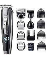HATTEKER Beard Trimmer for Men Cordless Mustache Body Trimmer Hair Trimmer Groomer Kit Precision Trimmer Nose Hair Trimmer Waterproof USB Rechargeable 5 in 1