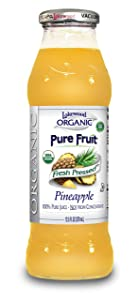 Lakewood Organic PURE Pineapple Juice, 12.5-Ounce Bottles (Pack of 12)