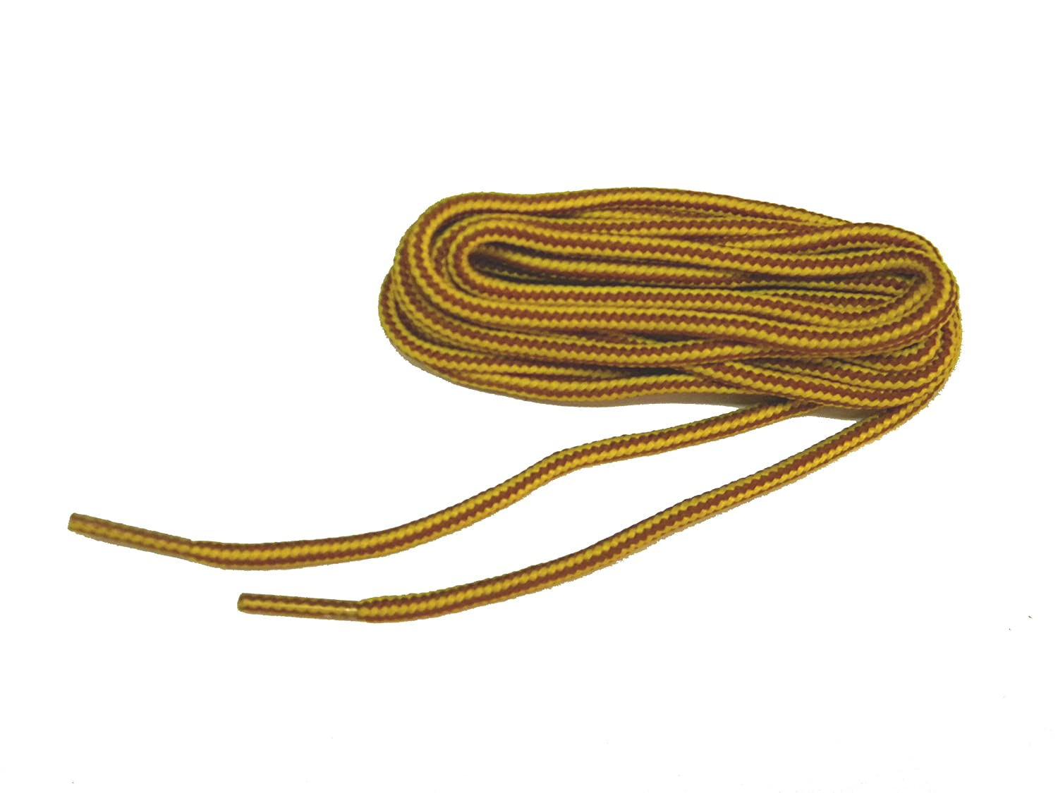 Rugged Wear proBOOT (TM) Gold - Tan Brown Boot Laces Shoelaces - 2 Pair Pack