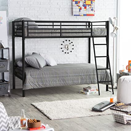 Amazon Duro Chicago Twin Over Twin Bunk Bed Kitchen Dining Awesome Bedroom Furniture Chicago