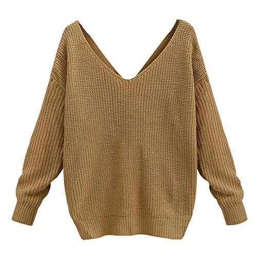 Juleya Suéter Mujer Sexy - Camisa Casual Blusa Cuello V Tops Batwing Tshirt Suelto Camiseta Corto Sh...