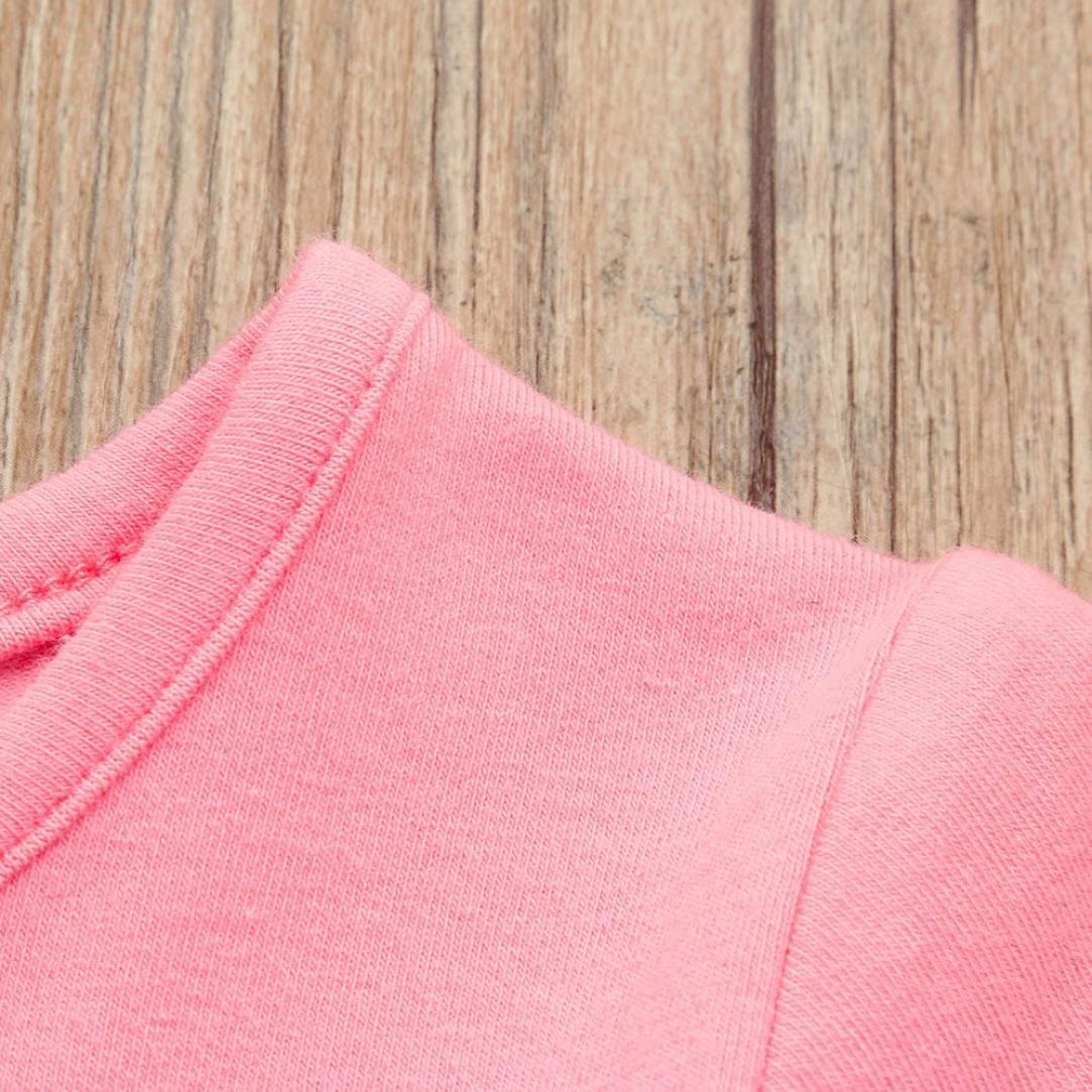 Willsa Girl Dress Baby Girl Cotton Candy Color Short Sleeve Princess Tutu Casual Dress