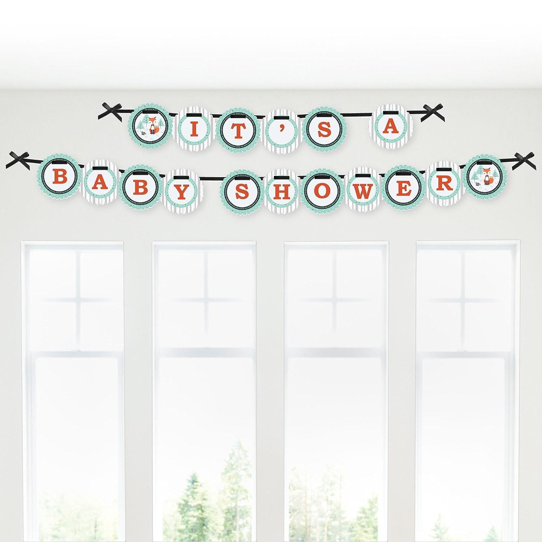 Amazon.com: Mr. Foxy Fox - Baby Shower Garland Banner: Toys & Games