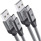 Rampow - Cavo USB Type C [2 Pezzi* 2 Metri] Cavo USB C in Nylon per Samsung/Huawei/LG/Nexus/Oneplus ed Altri Dispositivi USB C, Grigio
