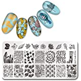 Born Pretty 1 Pc Plaque Stamping Rectangulaire Motif Floral Nail Art Tampons Image Plate BPX-L018