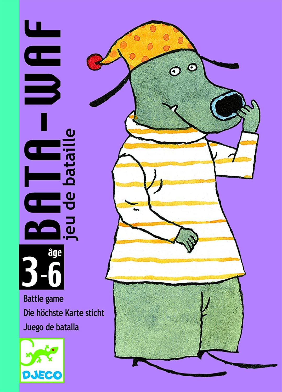 Djeco-DJ05104 Cartas Bata, Multicolor (DC5104)