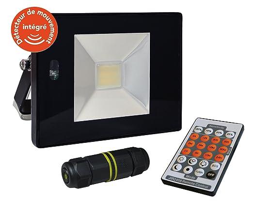 Tibelec 351620 Proyector LED con detector de movimiento/mando a ...