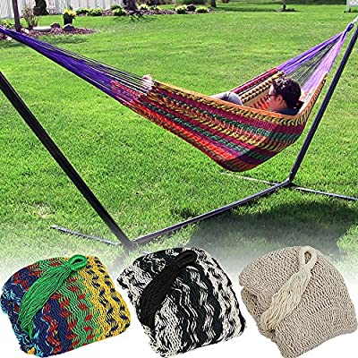 Sunnydaze XXL Thick Cord Mayan Hammock - Multiple Options Available