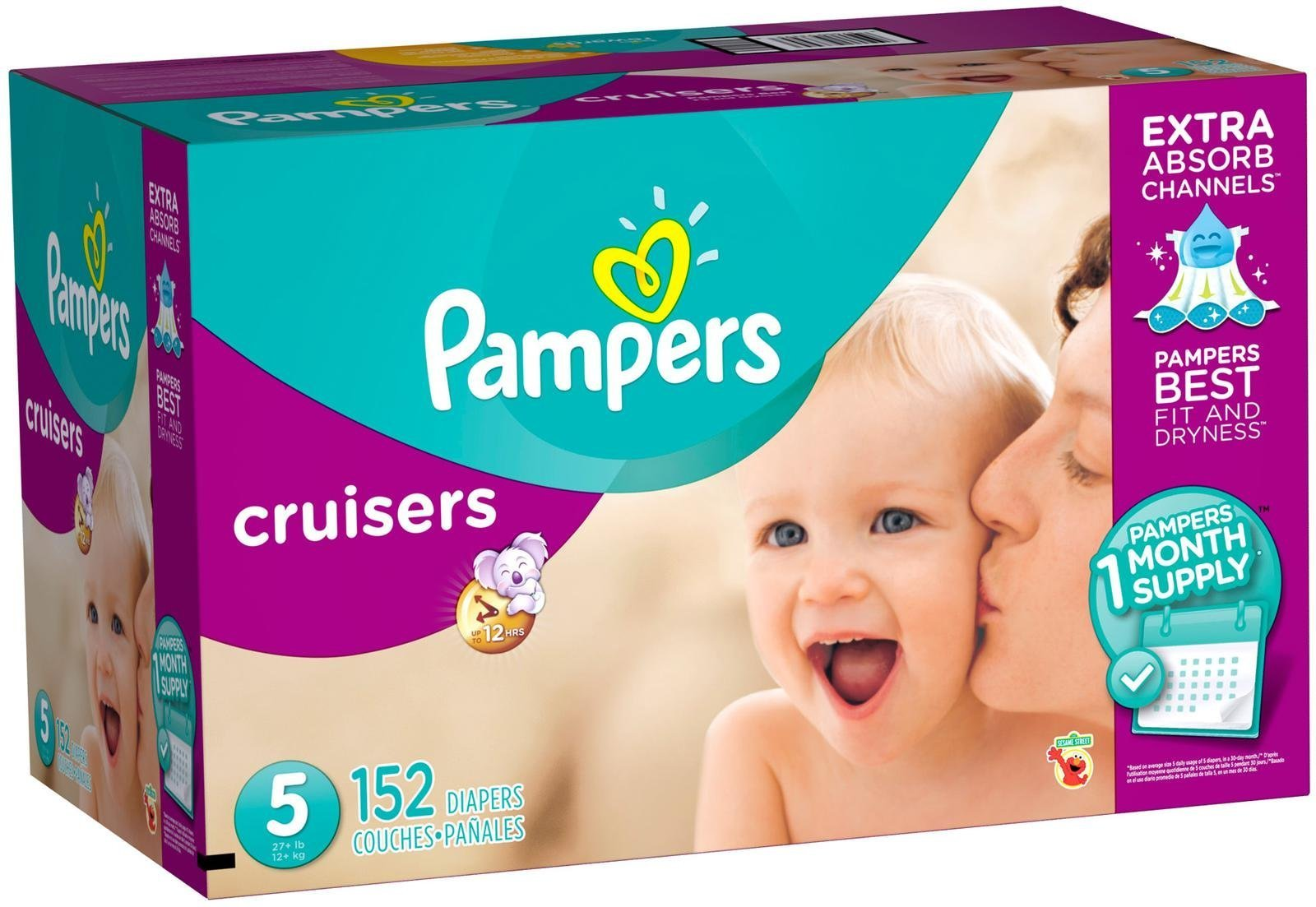 Pampers Cruisers Disposable Diapers Size 5, 152 Count (Packaging May Vary)