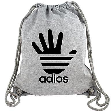 1910f0d260548 ADIOS - Gym Bag Turnbeutel aus Fair Trade Bio Baumwolle in hochwertiger  Qualität mit dicken Kordeln