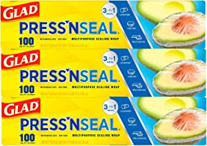 Glad® Press'n Seal® Plastic Food Wrap - 100 Square Foot Roll (Pack of 3) (Package May Vary)