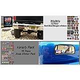 Bumper/Window Decals for RC Scale cralwer - 2 Styles - Axial SCX10 II RC4WD Redcat Gen7 Gen8 TRX4 Vanquish VS4-10 Stickers (Rock Band - 52 Piece)