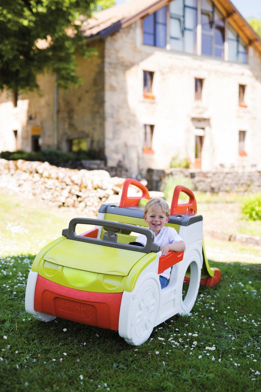 Smoby Jeu Plein Air - Voiture Aventure Adventure Car - 3 Activités -  Voiture - Toboggan - Bac à Sable 840200 972cff1f963
