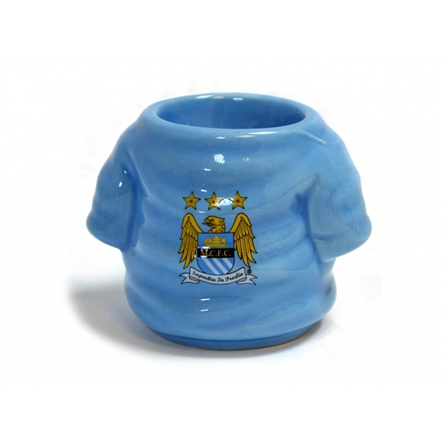 Manchester City FC Official Football Shirt Egg Cup (One Size) (Light Blue/Gold) UTBS233_1