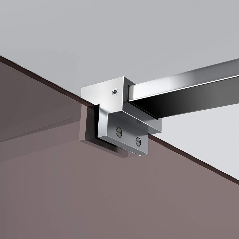 Leroy Timeless - Mampara de ducha (cristal templado de bronce de 8 mm, nano, acero inoxidable SS304), transparente: Amazon.es: Bricolaje y herramientas