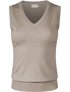 f4fc96bcbd85d JSCEND Women s Solid Basic V-Neck Sleeveless Soft Stretch Pullover Sweater  Vest Top