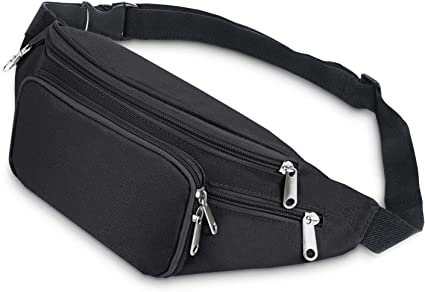Outdoor Sport Bum Bag Fanny Pack Travel Waist Money Phone Belt Zip Pouch Wallet