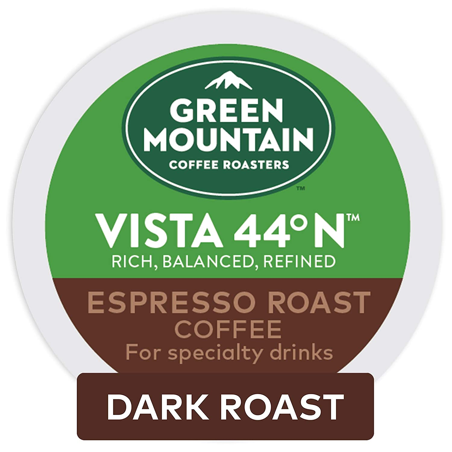 Green Mountain Coffee Roasters Vista 44°N, Single Serve Coffee K-Cup Pod, Flavored Coffee, 48