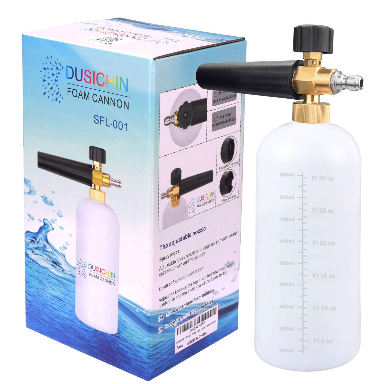 DUSICHIN SFL-001 Foam Cannon Snow Foam Lance Pressure Washer Jet Wash Quick Release Adjustable 1/4'' Fitting Male by DUSICHIN