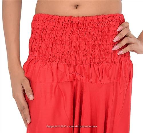 Faldas y bufandas de las mujeres Rayón Sarouel/Afghani/Yoga/Hippie pantalón
