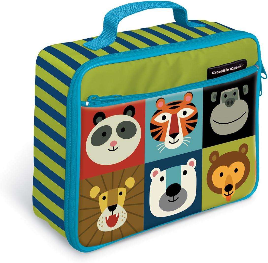 Crocodile Creek Eco Kids Jungle Jamboree Insulated Lunch Box with Handle, 9.5&Quot