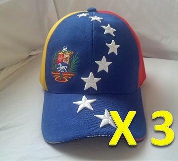 Gorra De Venezuela Tricolor Flag Hat Capriles 3 PCS Pack