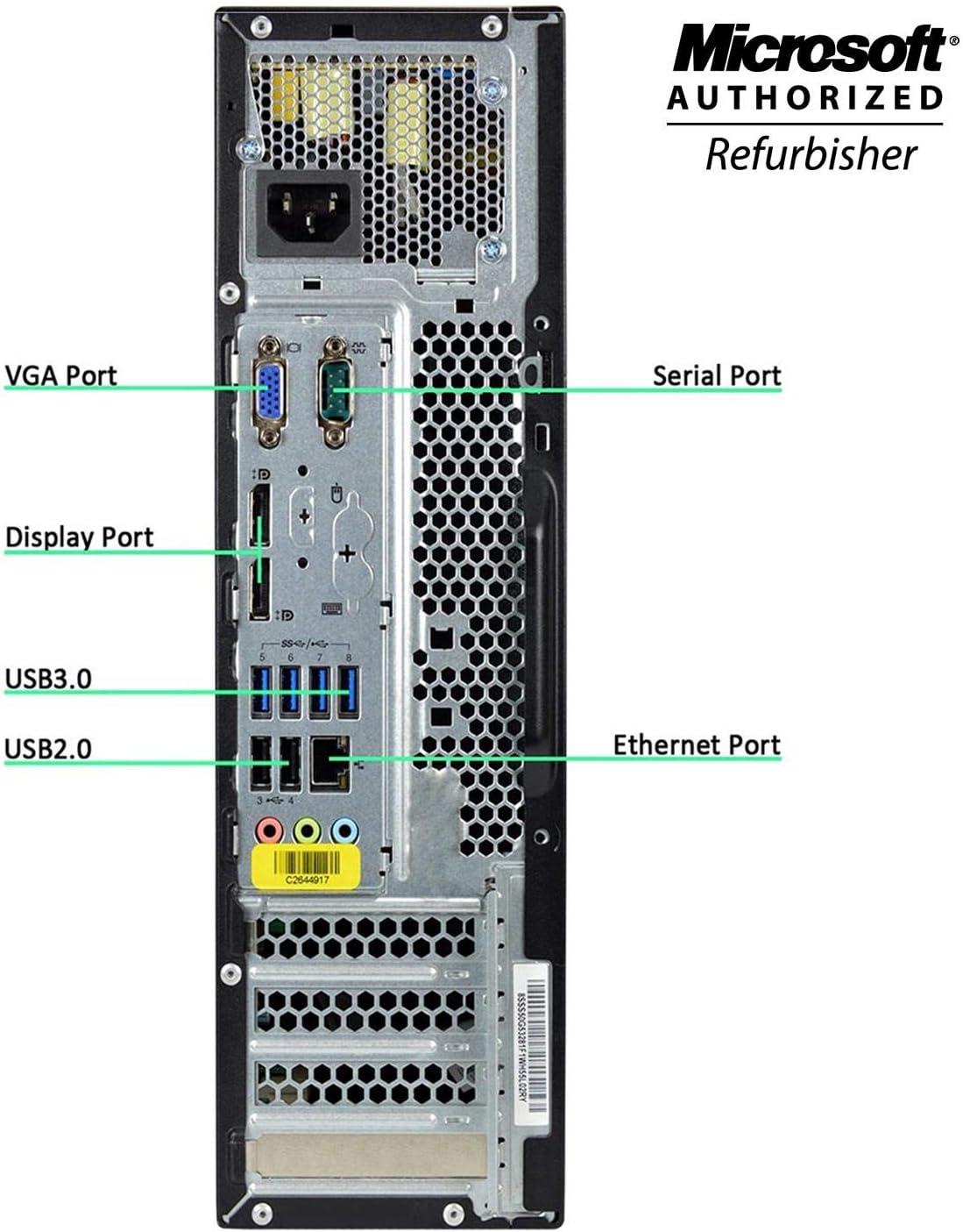 256GB SSD NEW NVIDIA GT 1030 2GB DDR5 16GB DDR3 RAM Windows 10 Home 64-bit DVD-ROM Lenovo M93P Small Form Factor High Performance Gaming Desktop Computer PC Renewed Intel Core I7-4770 3.4Ghz