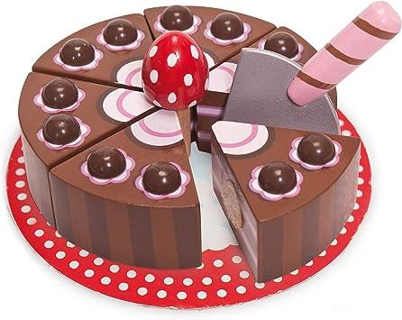 Groovy Le Toy Van Childrens Wooden Honeybake Chocolate Gateau Cake Food Funny Birthday Cards Online Inifodamsfinfo
