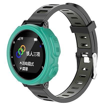 Gusspower Funda Protectora de Silicona Suave para Reloj Deportivo Garmin Forerunner 235 GPS Watch (Menta
