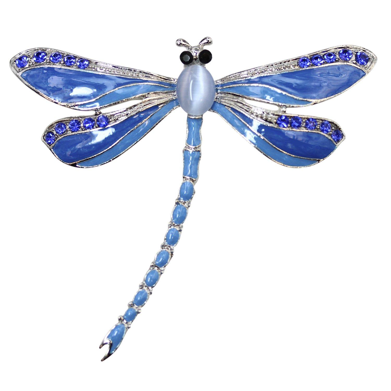 Faship Gorgeous Big Dragonfly Pin Brooch C101204C1N1